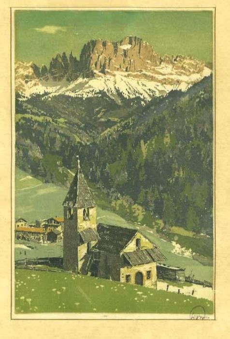 Rosengarten - St. Ciprian - Catinaccio Chiesetta di San Cipriano.