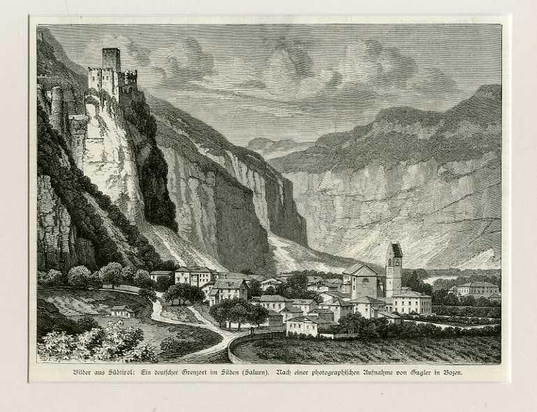 Bilder aus Südtirol: ein deutscher Grenzort im Süden (Salurn).