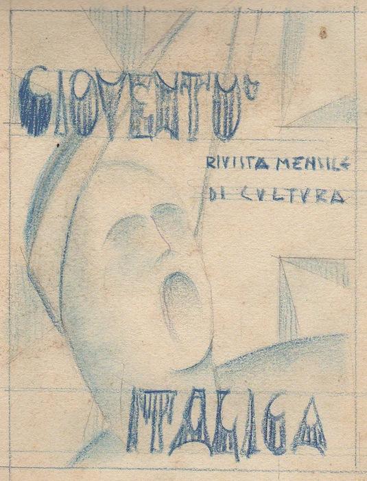 Album di disegni e bozzetti di stile futurista-fascista.