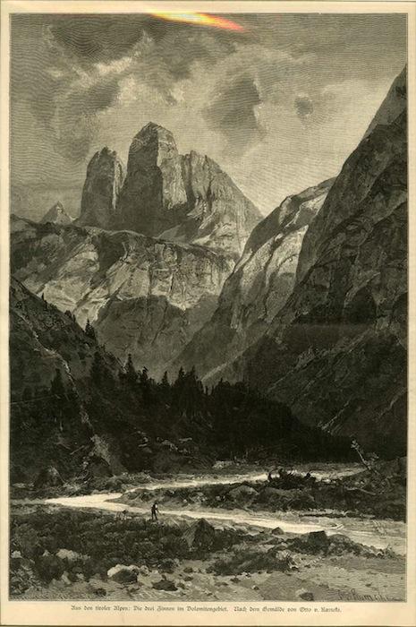 Aus den tiroler alpen: Drei Zinnen im Dolomitengebiet.