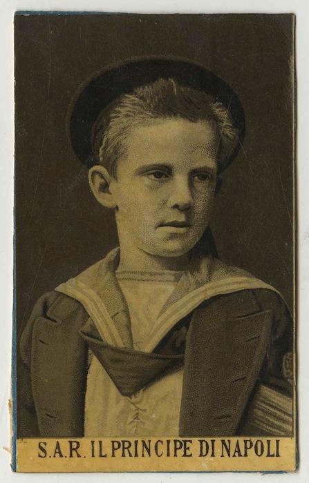 Il principe di Napoli Vittorio Emanuele.