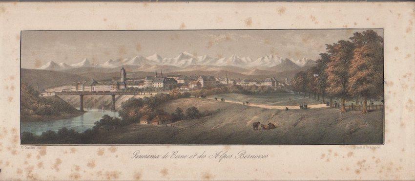 Panorama de Berne et des Alpes Bernoises.