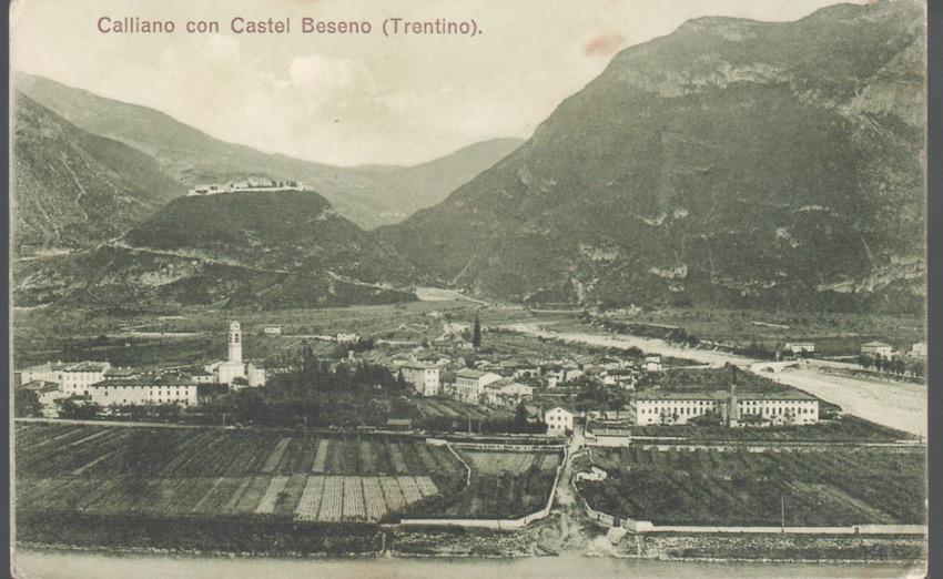 Calliano con Castel Beseno (Trentino).