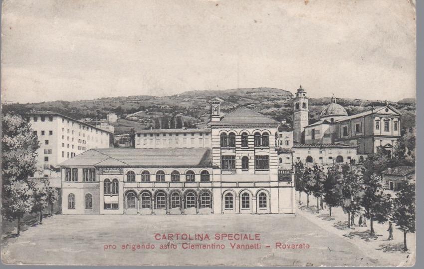 Cartolina speciale pro erigendo asilo Clementino Vannetti - Rovereto.
