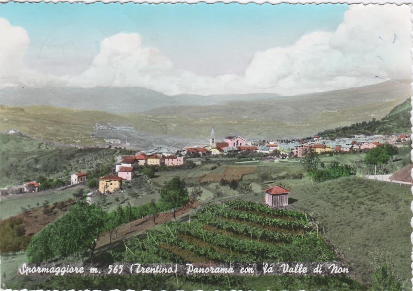 Spormaggiore m. 565 (Trentino) Panorama con la Valle di Non.