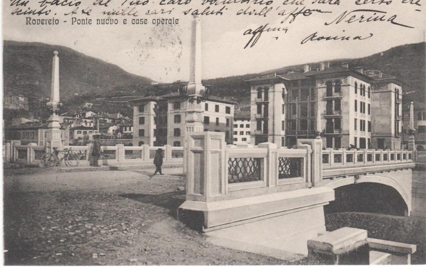 Rovereto - Ponte nuovo e case operaie.