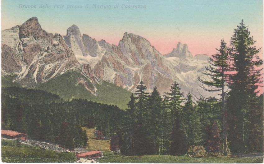 Gruppo delle Pale presso S. Martino di Castrozza.