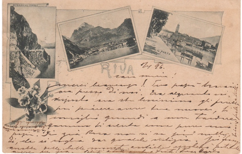 Riva, il porto, Strada del Ponale.