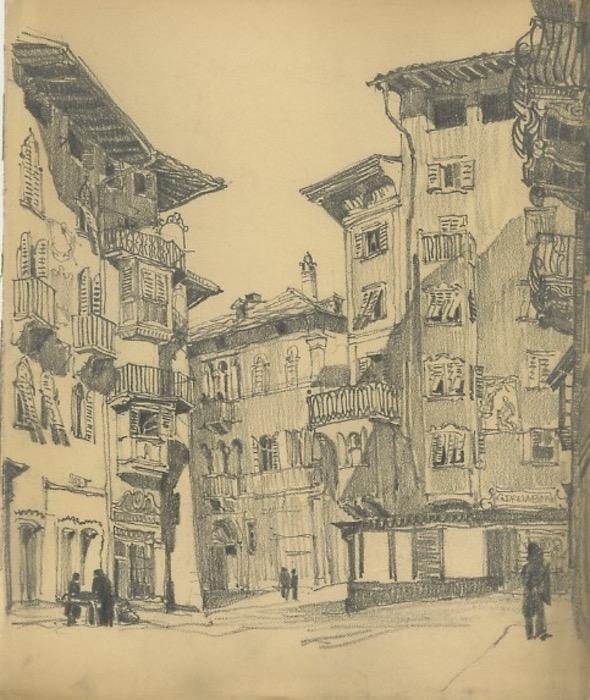 Trento. Il Cantone visto da Via Manci.