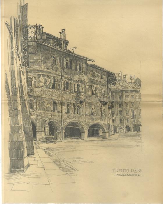 Trento 17 X 1911. Piazza Grande.