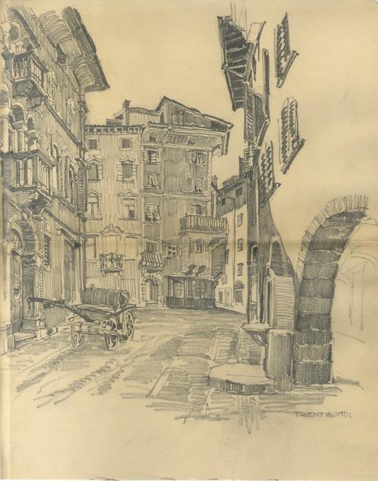 Trient. 16 ott. 1911. Il Cantone da via Suffragio.