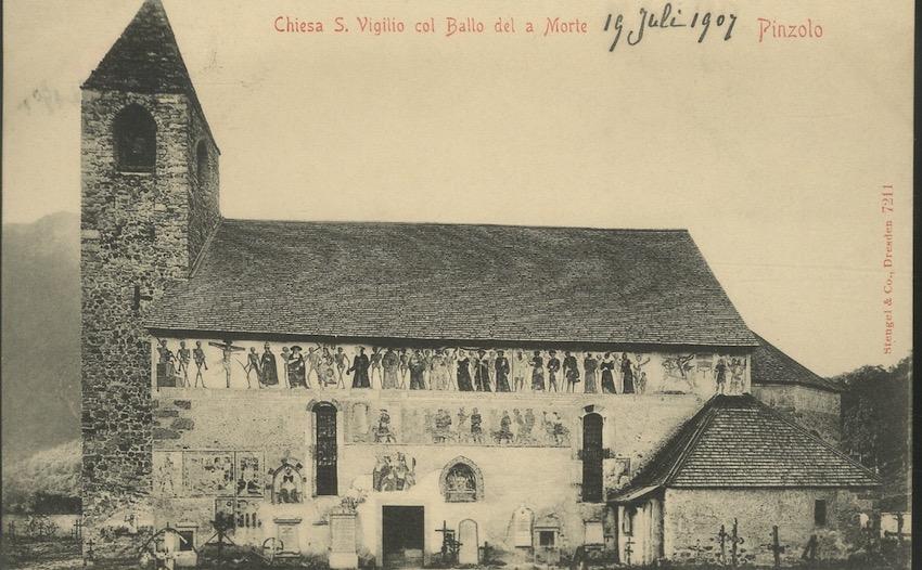 Chiesa S. Vigilio col Ballo del a Morte, Pinzolo.