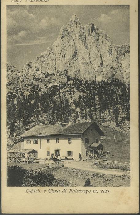 Ospizio e Cima di Falzarego m. 2117 - Alpi Dolomitiche.