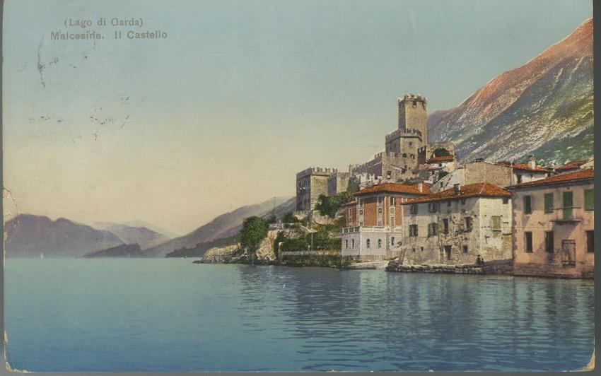 (Lago di Garda) Malcesine. Il castello.