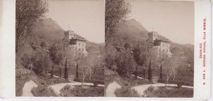 N. 5128 L. Garda - See - Gardone Riviera, Villa Wimmer.