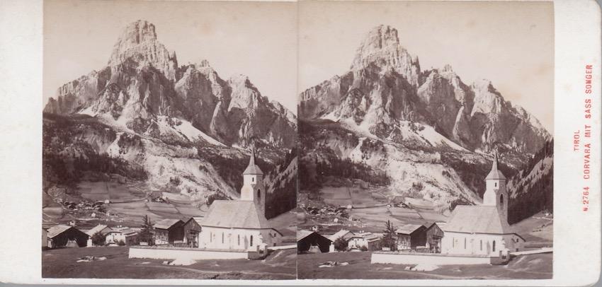 Tirol, Corvara mit Sass Songer, N: 2764.