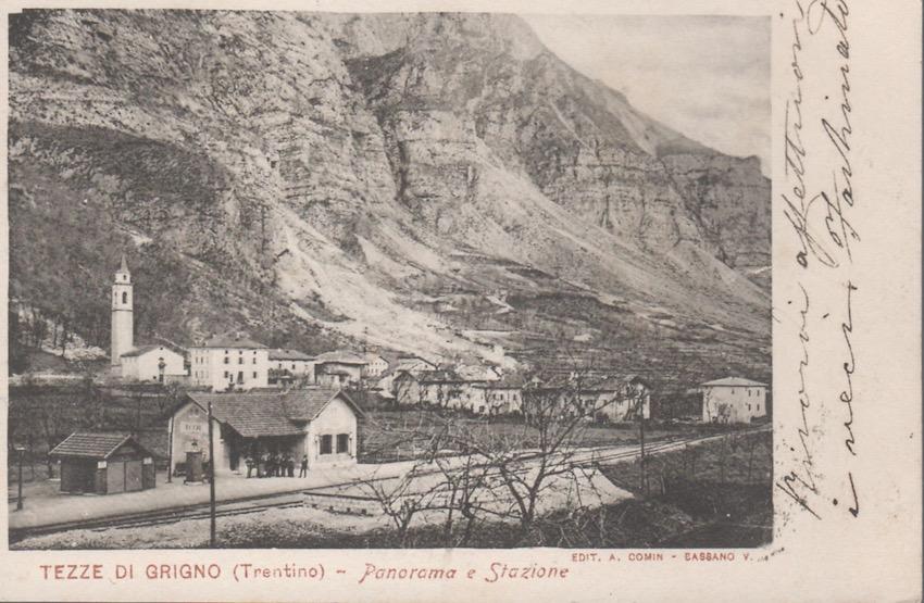 Tezze di Grigno (Trentino) - Panorama e Stazione.