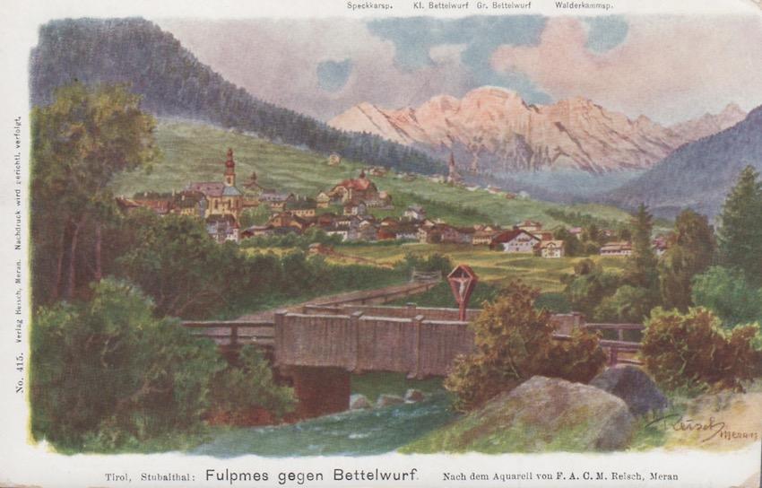 Tirol, Stubaital: Fulpmes gegen Bettelwurf.