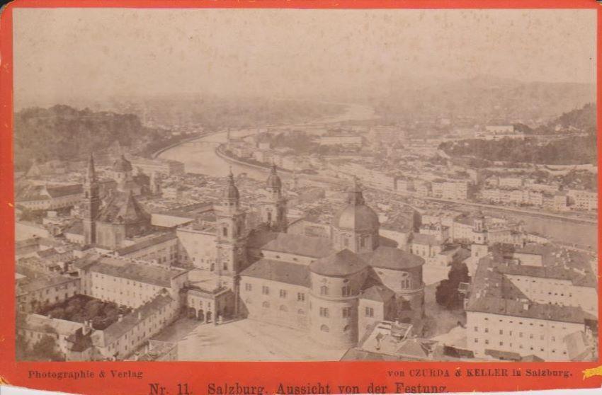 Salzburg. Aussicht von der Festung.