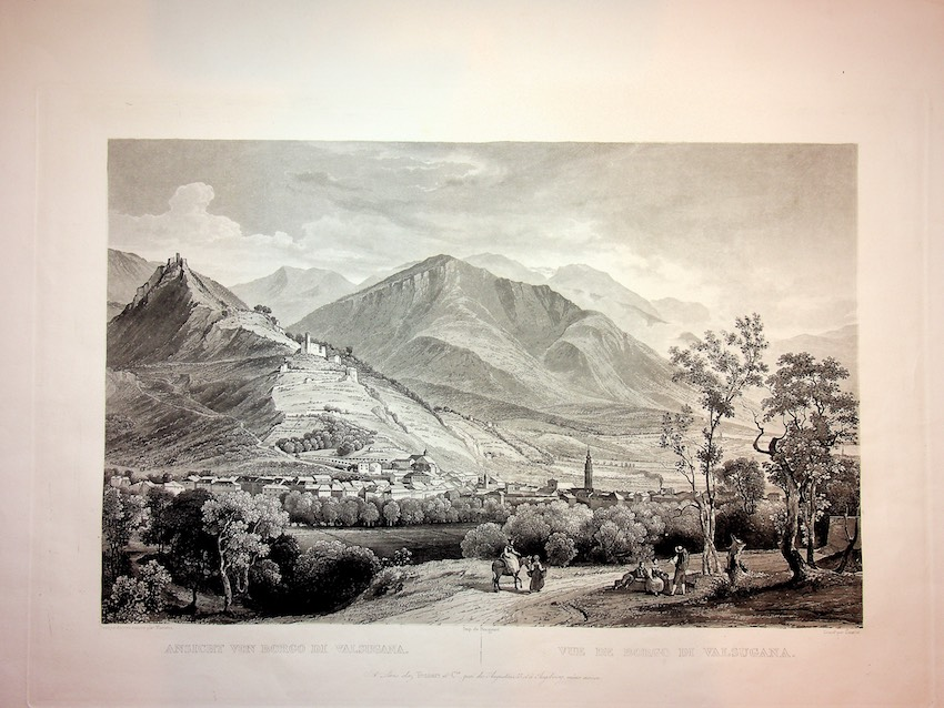 Ansicht Von Borgo Valsugana. Vue de Borgo Valsugana