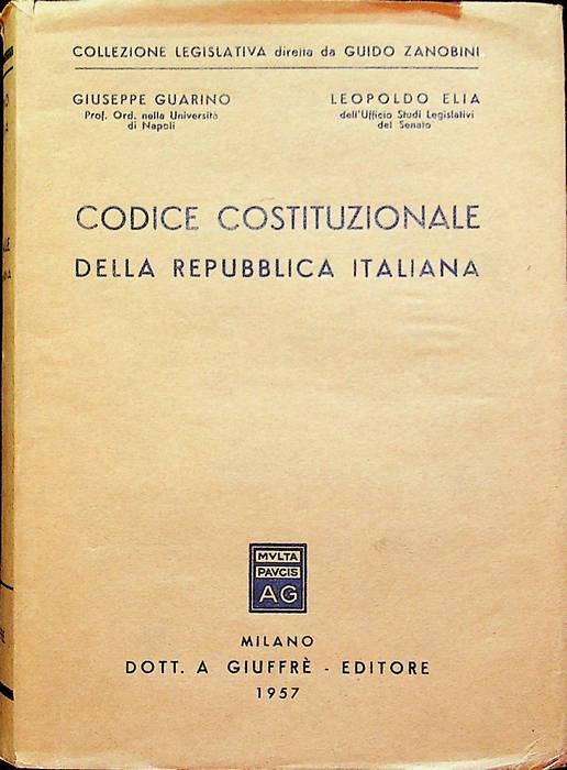 Codice costituzionale della Repubblica italiana.