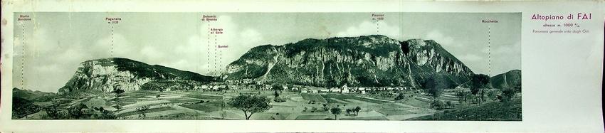 Altopiano di FAI, altezza 1000 s/m; panorama generale visto dagli Orli.