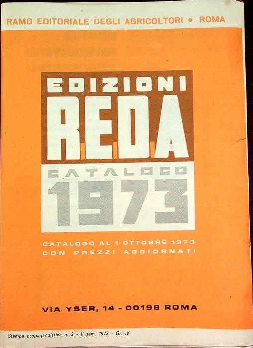 Edizioni Reda: catalogo 1973.