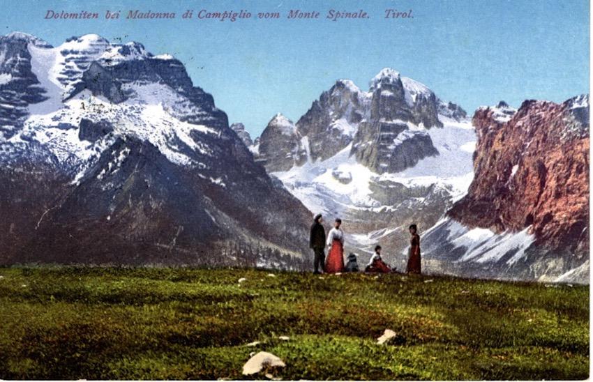 Dolomiten bei Madonna di Campiglio vom Monte Spinale. Tirol.