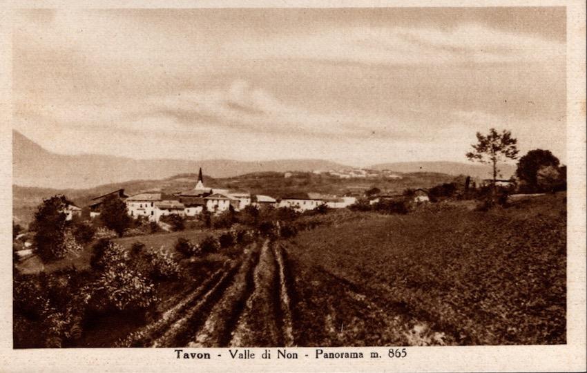 Tavon - Valle di Non - Panorama m. 865.