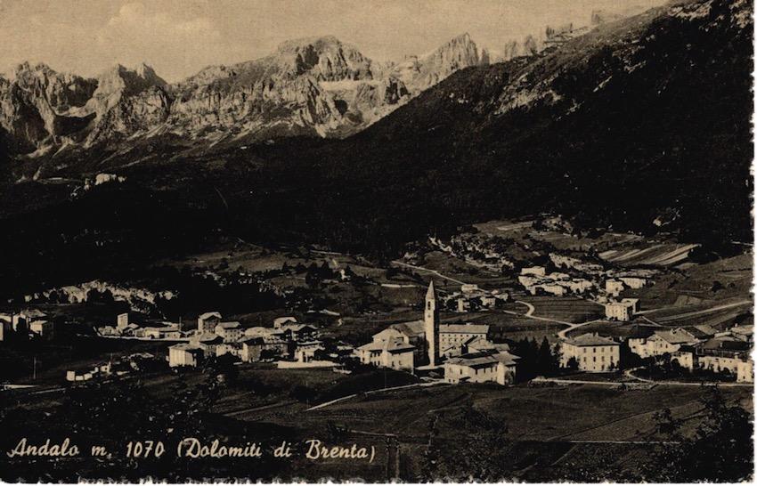 Andalo m. 1070, (Dolomiti di Brenta).