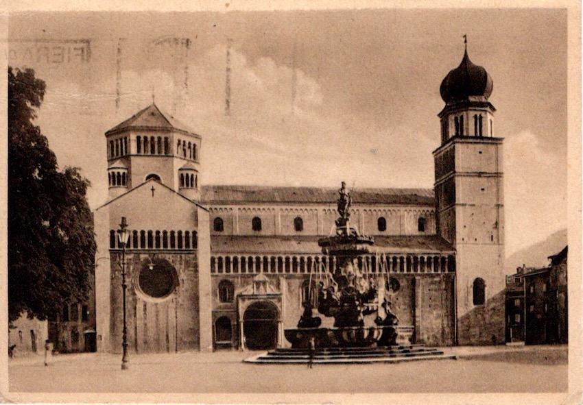 Trent, Il Duomo e il Fontana del Nettuno.