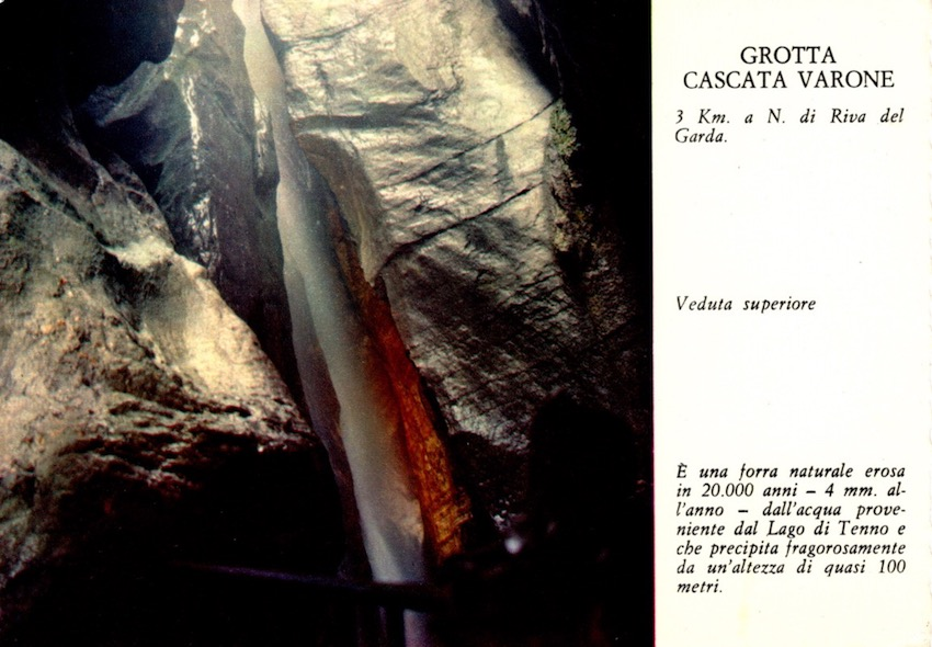 Grotta cascata Varone, 3 km a N. di Riva del Garda - Grotto Varone Fall - Higher view.