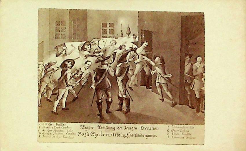 Wayre Abbildung der Jenigen Execution... 25 Febraur 1634.