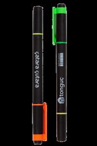 Tonguç Siyah Gövdeli Çift Taraflı Fosforlu Kalem