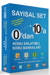 0'dan 10'a Konu Anlatımlı Soru Bankası Sayısal Set