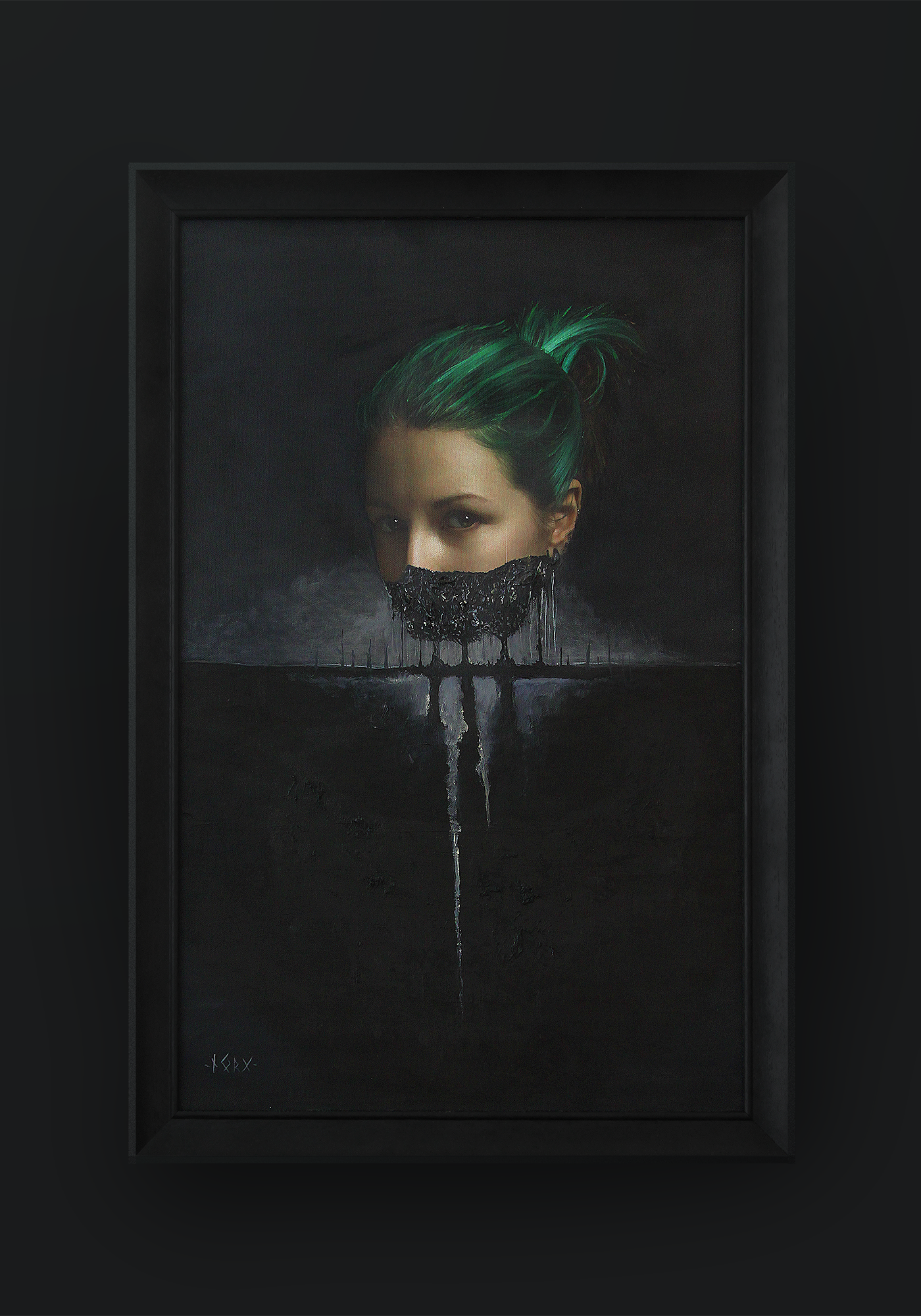 Girl with Green Hairs. Белько Алексей