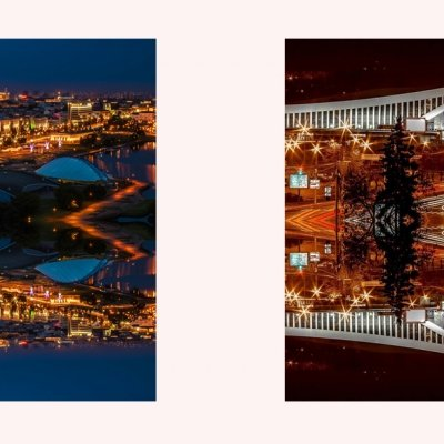 """""""Minsk"""". Diptych from the series """"Urban Kaleidoscopes"""""""