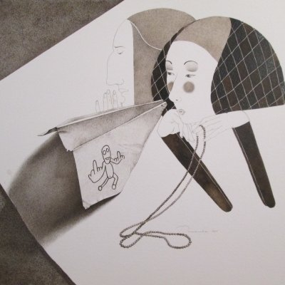 Still Life with Paper Plane