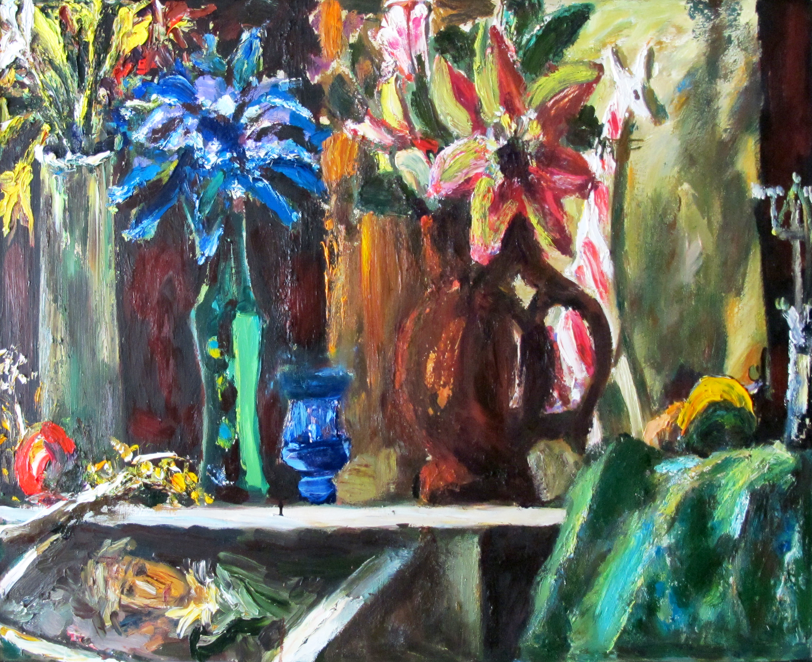 Still life with reproduction