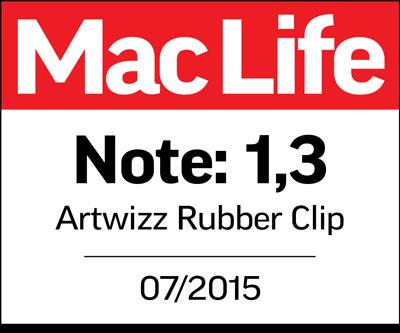 """Eine 1,3 im MacLife Test. Unser Artwizz Rubber Clip für MacBook hat die Tester von MacLife mehr als überzeugt. Es ist """"ein guter Schutz, ohne zu stören"""". Und es geht weit über reine Funktionalität hinaus. Es ist der modische Look, der besonders hervorsticht, denn der """"Rubber Clip kombiniert guten Schutz mit gutem Produkt-Design"""". Maclife"""