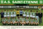 Photo de l'équipe de l'ASSE saison 1983-1984