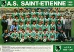 Photo de l'équipe de l'ASSE saison 1989-1990