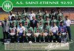 Photo de l'équipe de l'ASSE saison 1992-1993