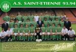 Photo de l'équipe de l'ASSE saison 1993-1994