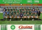 Photo de l'équipe de l'ASSE saison 1995-1996
