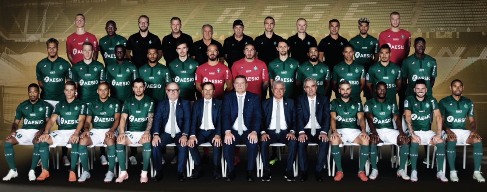 Photo de l'équipe de l'ASSE saison 2018-2019