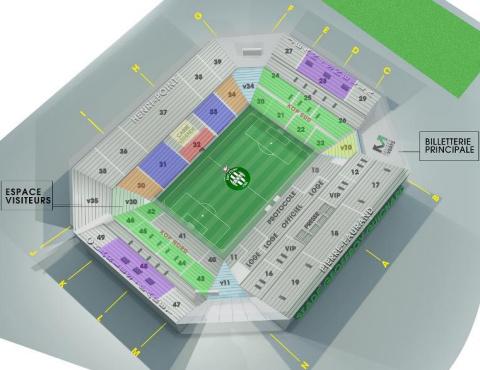 Plan du Stade Geoffroy-Guichard
