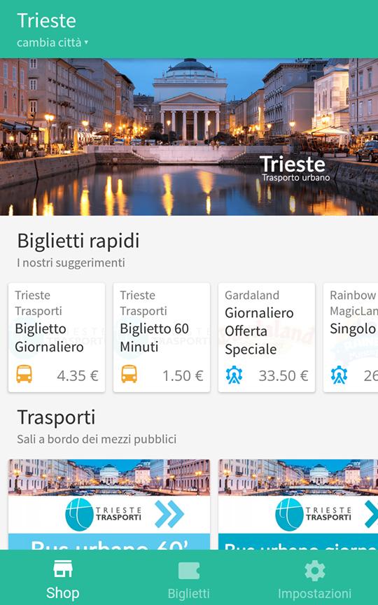 Lo shop dell'app DropTicket