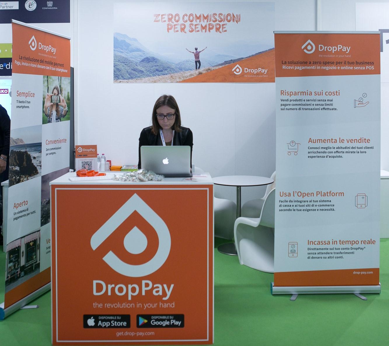 Lo stand di DropPay al Netcomm Forum