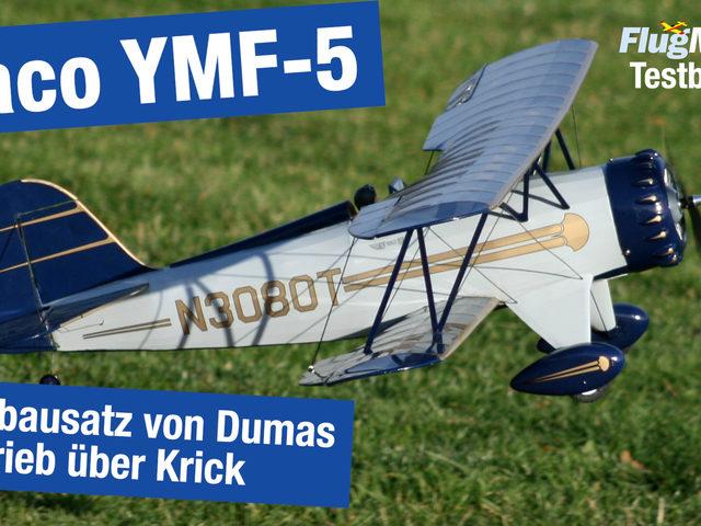 Video zur Waco YMF-5 von Dumas Aircraft / Krick – Bausatz mit gelaserten Holzteilen